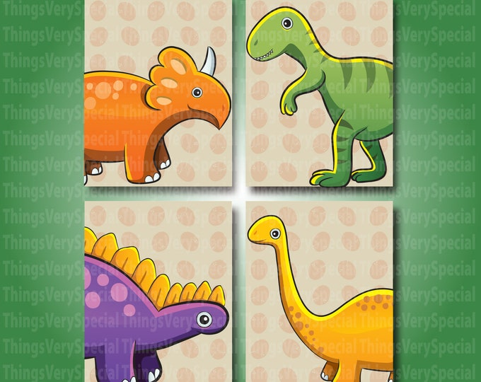 Dinosaur Children's Room Art Prints, Printed Wall Art for kids, Dinosaur gift for boys or girls 09112019e