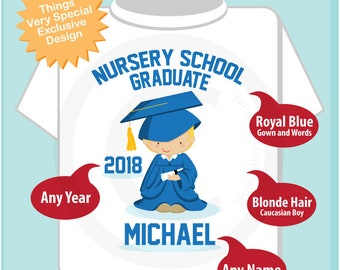 Nursery School Graduation Shirt | Nursery School Graduate Shirt | Kids's Graduation Shirt | 06062018c