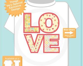 Kids Valentines Shirt, LOVE Shirt for Kids, Valentine Love Shirt (01202017n)