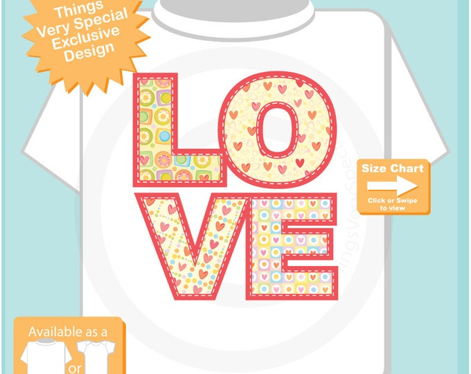 Kids Valentines Shirt, LOVE Shirt for Kids, Valentine Love Shirt (01202017n)