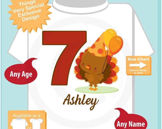 Turkey Birthday shirt - Birthday Girl shirt - Turkey Thanksgiving birthday party theme 11162016bz