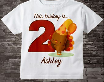 Turkey Birthday shirt - Birthday Girl shirt - Turkey Thanksgiving birthday party theme 08032016d