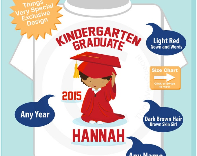 Kindergarten Graduate Shirt | Kindergarten Graduation Shirt | Personalized for your little girl with year and name | 06042015a