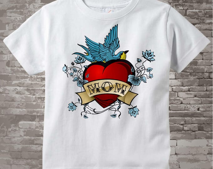 Boy's Valentine Tattoo Heart Shirt or Onesie, Personalized 01182011a