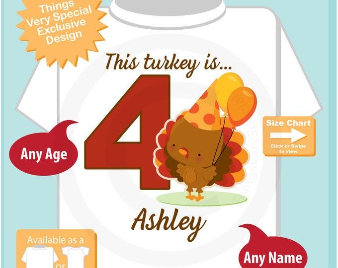 Turkey Birthday shirt - Birthday Girl shirt - Turkey Thanksgiving birthday party theme 10102018az