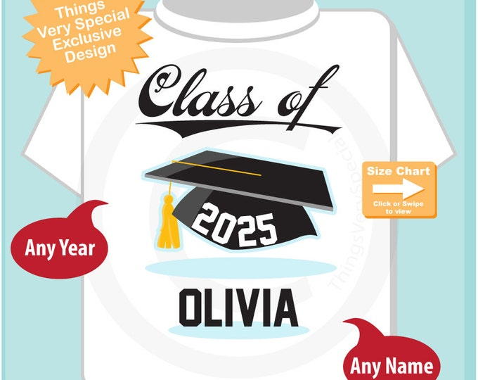 Class of 2025 Future Graduate Shirt, Personalized Graduation Shirt Future Graduation Shirt any year Child's Back To School Shirt (08062015d)