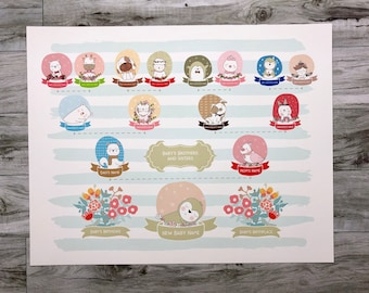 New Baby Gift of a First Family Tree for Baby, Baby Shower Gift for new baby, Blank Family Tree Chart, can be personalized