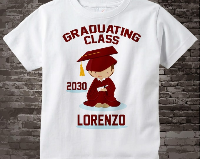 Graduate Shirt, Boy's Personalized Graduation Shirt Future Graduation Shirt any year Child's Back To School Shirt 02202014a