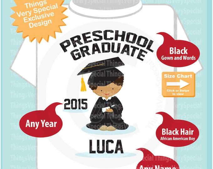 Personalized Preschool Graduate Shirt, Kindergarten Graduate Shirt, Child's Cap and Gown Shirt Last Day of School 03152019h