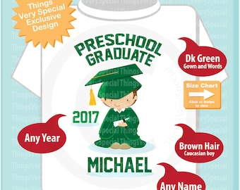 Personalized Preschool Graduate Shirt, Preschool Graduation Shirt Child's Last day of School Shirt 04252019b