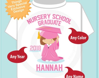 Nursery School Graduation Shirt | Nursery School Graduate Shirt | Kids's Graduation Shirt | 06062018e