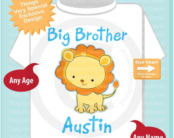 Lion Big Brother Shirt, Boy's Big Brother Lion Tee Shirt or Onesie, Pregnancy Announcement 01142019b