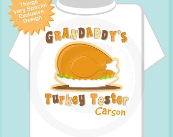 Thanksgiving Shirt - Turkey Shirt - Babys First Thanksgiving - Thanksgiving Outfit - Kids Thanksgiving outfit - Grandaddy's Turkey Tester