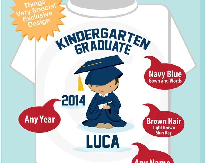 Personalized Kindergarten Graduate Shirt Kindergarten Graduation Shirt Child's Back To School Shirt 05122014b