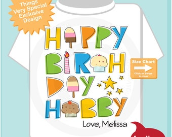 Happy Birthday Hubby Adult Shirt, Personalized with name 07312019a