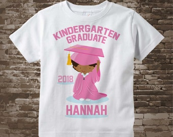 Personalized Kindergarten Graduate Shirt Kindergarten Graduation Shirt Child's Back To School Shirt 05142014d