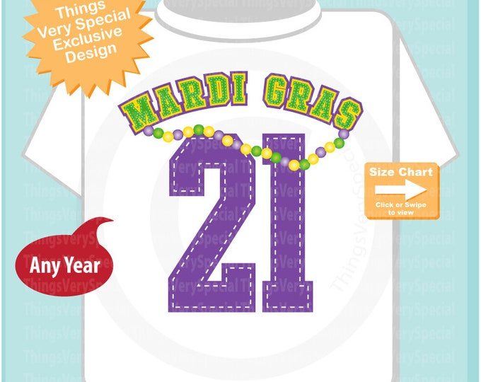 Mardi Gras 2021 Shirt or Onesie Bodysuit, Mardi Gras Shirt for Toddlers and Kids 12182014a