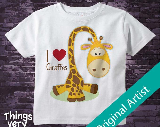 I love Giraffes tee shirt or Onesie bodysuit 12262018a