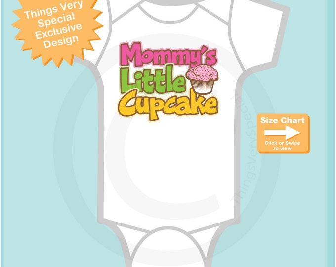Girl's Mommy's Little Cupcake t-Shirt or Onesie Bodysuit (03292015d)