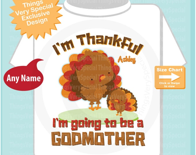 I'm Thankful I'm going to be a Godmother shirt personalized with name 10232019a