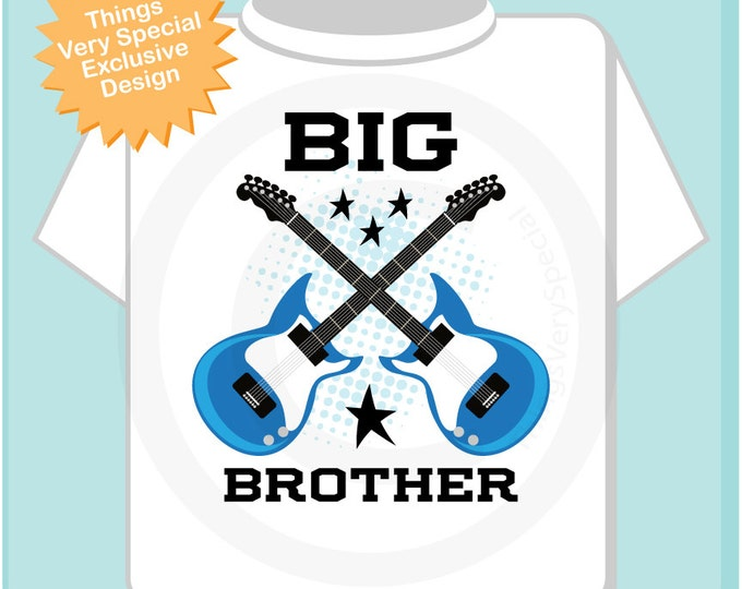 Big Brother Guitar Rocker Onesie or Tee Shirt Infant, Toddler or Youth sizes t-shirt (11112013b)
