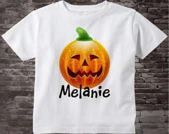 Halloween Shirt, Pumpkin Shirt, Spooky Pumpkin Shirt, Personalized Halloween Shirt or Onesie, Halloween Pumpkin