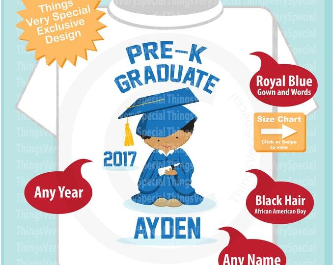 Boy's Personalized Pre-Kindergarten Pre-K Graduate Shirt Graduation Shirt Child's Last Day of School Shirt 05282019a