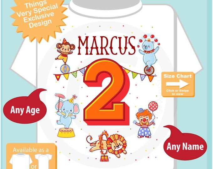 Circus 2nd Birthday Shirt, Circus Themed 2nd Birthday Shirt, Circus Second Birthday shirt for Circus Themed Birthday Party 03142017b