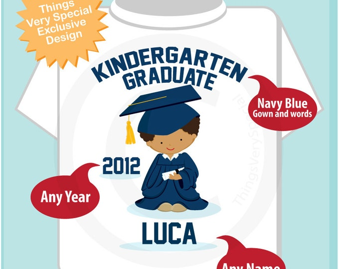Personalized Kindergarten Graduate Shirt Kindergarten Graduation Shirt Child's Back To School Shirt (05222012d)