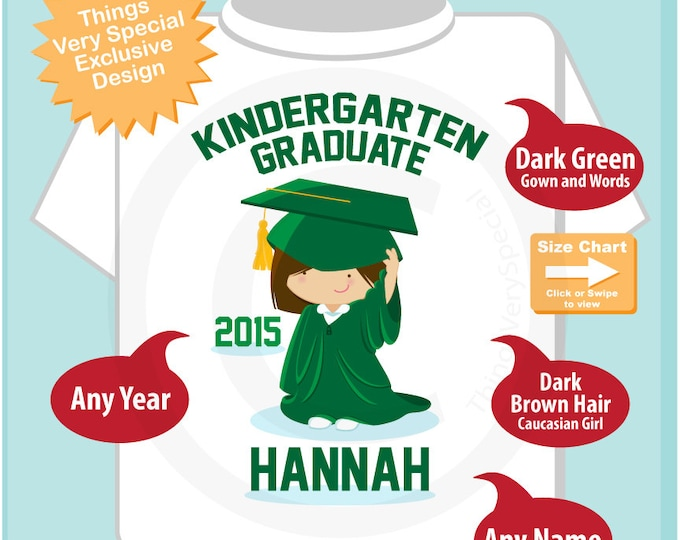Personalized Kindergarten Graduate Shirt Kindergarten Graduation Shirt Child's Back To School Shirt or Onesie (05262014e)