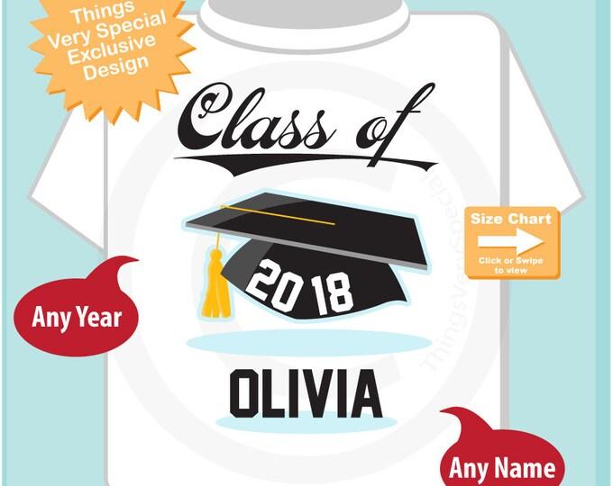 Class of 2018 Graduate Shirt, Personalized Graduation Shirt Graduation Shirt any year Child's Back To School Shirt 06052018e