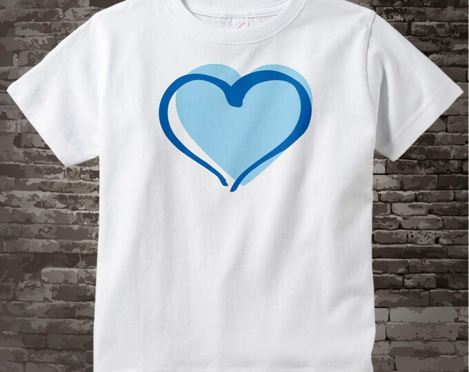 Blue Heart T-shirt or Onesie Bodysuit for boys 06122017a