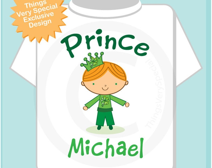 Irish Prince Shirt, Personalized Prince Shirt or Onesie, Prince Shirt for Toddlers and Kids