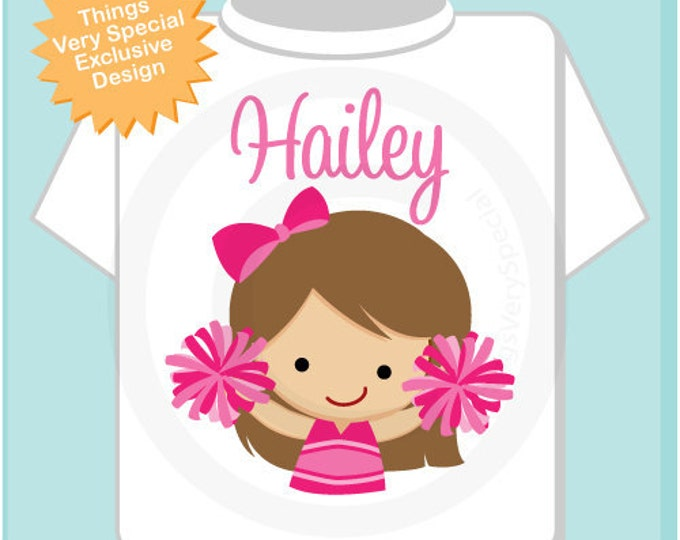 Cheerleader Shirt, Personalized Cheerleader Shirt, or Onesie with childs name (09072011a)