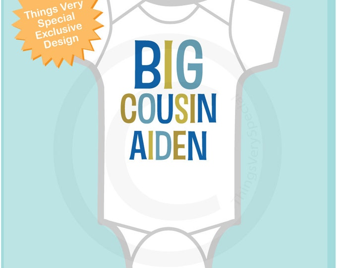 Big Cousin Onesie, Personalized Big CousinShirt, Infant, Toddler or Youth sizes t-shirt (03142012c1)