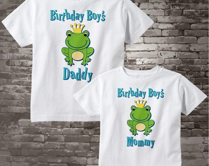 Matching Birthday Boy's Mommy and Daddy Shirts with Frog prince 06022017e