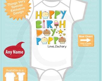 Happy Birthday Pappa Onesie - Happy Birthday Pappa Shirt - Happy Birthday Outfit - Happy Birthday Pappa - Dad Birthday Gift - 12272020c