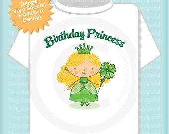 Irish Birthday Princess Tee Shirt or Onesie Bodysuit any hair color 03152019d