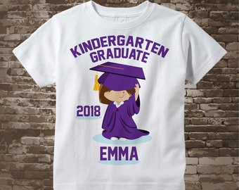 Kindergarten Graduate Shirt, Personalized for your child with year, name and color 04252014a