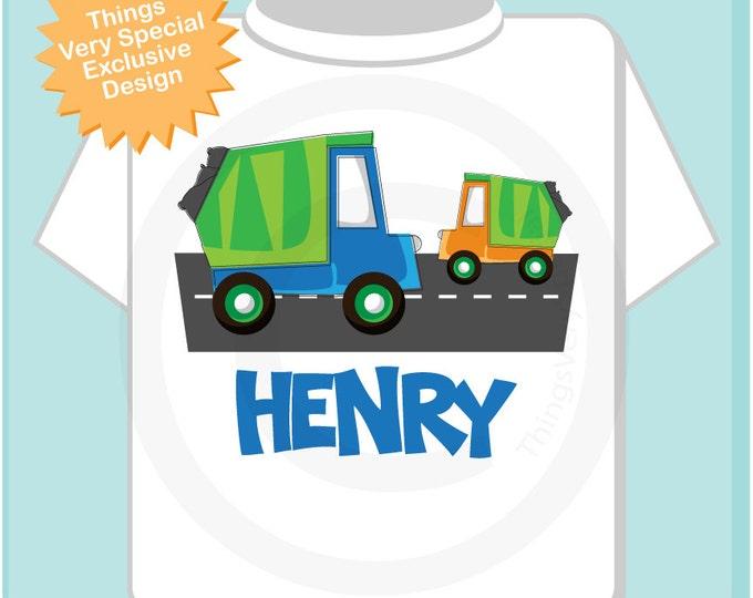 Personalized Garbage Truck Tee Shirt or Onesie (01072013b)