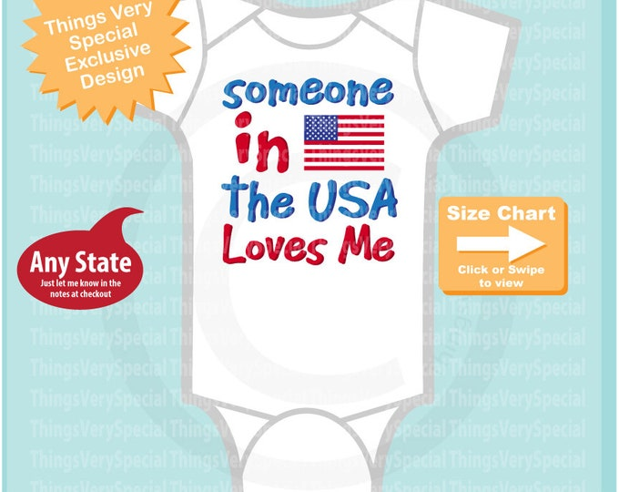 Someone In the USA Loves Me Gerber Onesie or Tee Shirt 06242019b