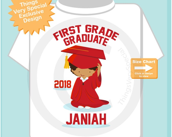 First Grade Graduate Shirt | First Grade Graduation Shirt | Personalized for your little girl with year and name | 05152018e