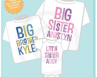 Matching Set of Three, Big Sister Big Brother Little Sister Outfit Set - Matching Sibling Set of three - Brother Sister Outfits 01282014f