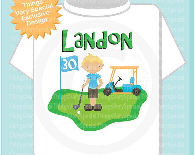 Adult Golf Theme Birthday Shirt in short or long sleeve 03082019c