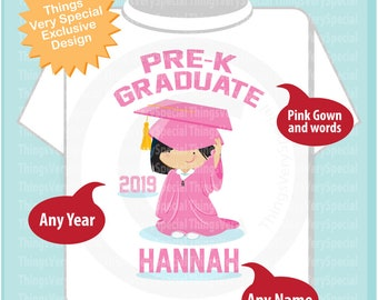 Pre K Shirt, Pre-Kindergarten Graduate Shirt, Personalized for your little girl with year, name and color 03222019b