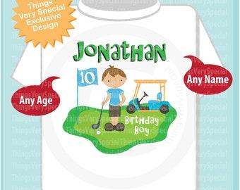 10th Birthday Golf Theme Shirt Personalized Tenth Birthday Boy Golfer Tee Shirt 04172019a