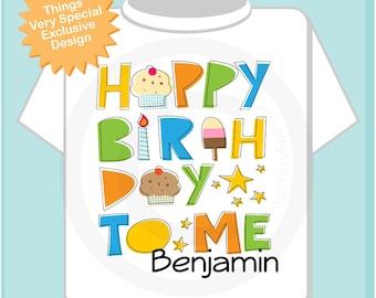 Birthday Shirt, Personalized Happy Birthday to Me Shirt or Onesie with Child's Name, Happy Birthday to Me Shirt (05152013b)