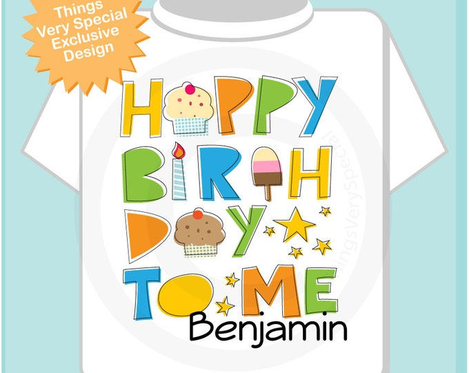 Birthday Shirt, Personalized Happy Birthday to Me Shirt or Onesie with Child's Name, Happy Birthday to Me Shirt (05152013b)