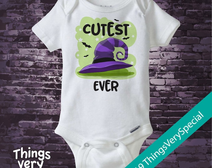 Cutest Witch Ever Halloween Outfit Onesie or Shirt, Cutest Witch Halloween Shirt or Onesie outfit 08162019e