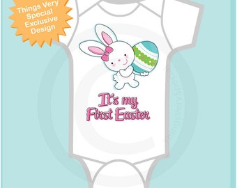 1st Easter Onesie, It's My First Easter Shirt, Baby's Easter Shirt or Onesie, Easter Bunny Egg ShirtToddlers Kids 04102014c